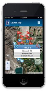 PGA scoring map app