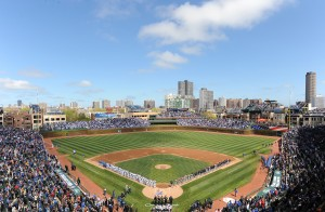 Wrigley Field on Opening Day, 2012. Photo courtesy of Chicago Cubs.  All rights reserved.