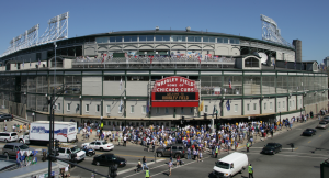 Wrigley Field marquee entrance. Photo courtesy of Chicago Cubs.  All rights reserved.