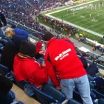 Wi-Fi coach in the stands at Gillette Stadium. Credit: Extreme Networks