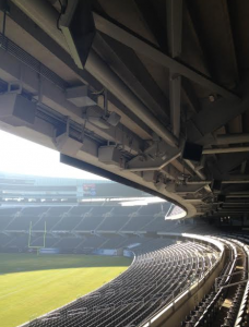 Wi-Fi antennas hidden under stands at Soldier Field. Credit: SMG/Soldier Field