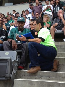Wi-Fi coach in the stands at the Linc. Credit: Extreme Networks