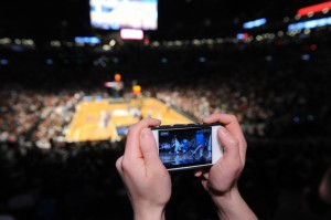 StadiumVision Mobile app being used in Barclays Center. Credit: Barclays Center