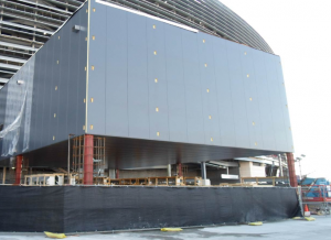 AT&T's new head-end building at MetLife, where its DAS gear is housed. Credit: AT&T