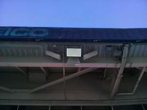 Wi-Fi antennas on stadium overhang. Credit: Denver Broncos