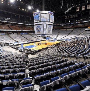 Amway Center prior to NBA opening night, 2013-14 season. Credit: Orlando Magic