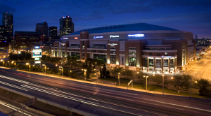 Edward Jones Dome at night