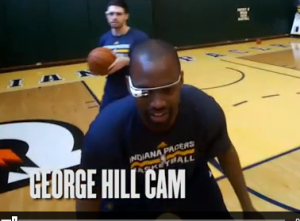 Screen shot of Google Glass footage from Indiana Pacers practice. Credit: Indiana Pacers