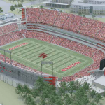 University of Houston stadium rendering. Credit: University of Houston