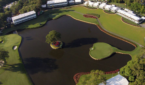 Island green at TPC Sawgrass, home of the Players Championship