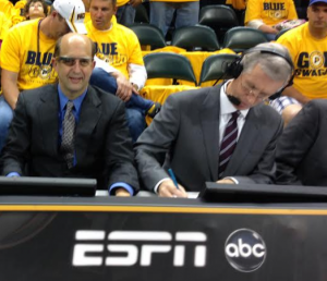 Jeff Van Gundy looks very Evil Empire with Google Glass on.
