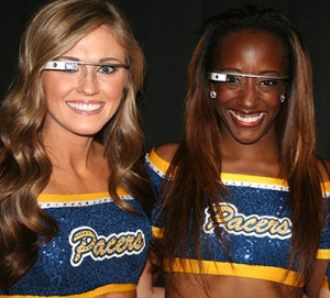 Indiana Pacers cheerleaders wearing Google Glass. Credit: Indiana Pacers.