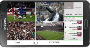 Screen shot of IBM app for Ajax football club. Credit: IBM