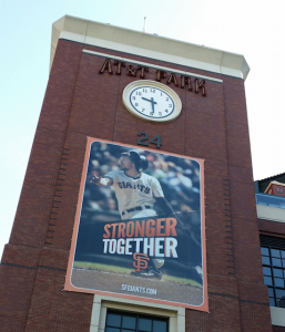 Outside AT&T Park. All photos, Paul Kapustka, Mobile Sports Report. (Click on any photo for larger image)