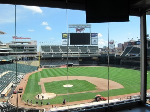 Suite view of Target Field