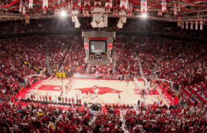 Bud Walton Arena, University of Arkansas. Credit: University of Arkansas website.
