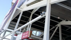 Wi-Fi access points visible on outside concourse structure