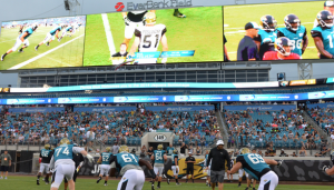 New huge video boards at EverBank Field