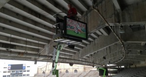 IPTV install at Camp Randall Stadium. Credit: University of Wisconsin