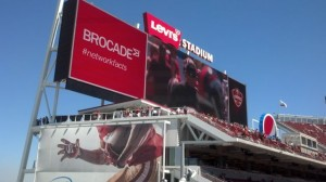 One of the big screens in Levi's Stadium.