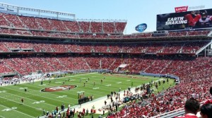 Levi's Stadium from Section 244. All photos: Paul Kapustka, Mobile Sports Report