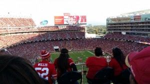 View from the Pepsi seating porch at the north end of Levi's Stadium