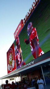 North scoreboard screen at Levi's Stadium.
