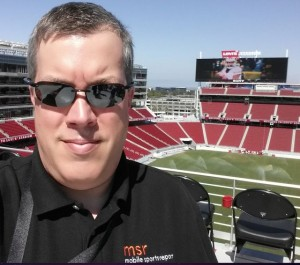 Obligatory Levi's Stadium selfie. MSR shirts complete the style.
