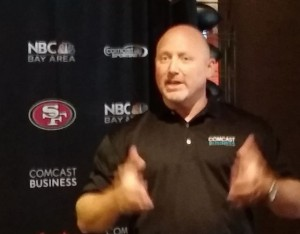 Ted Girdner, Comcast VP of business services for California, talks stadium networking.