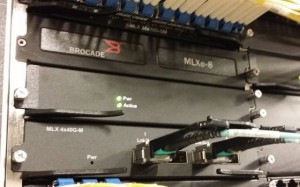 Brocade router at Levi's Stadium data center. One of many. As in, many many.