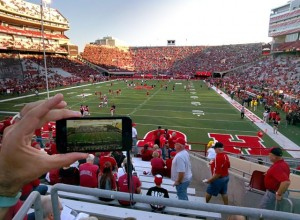 Using the app at Memorial Stadium