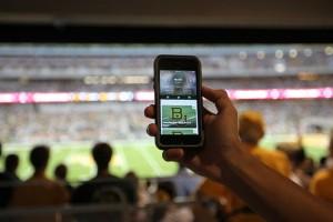 Using the app at McLane Stadium