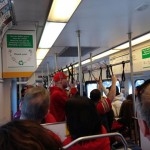 Packed VTA train en route to Levi's Stadium