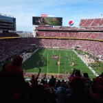 Kickoff view from Section 229. Thanks to the Niners for the free media access.