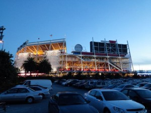 Levi's Stadium at twilight