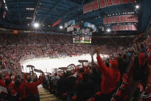 Joe Louis Arena, Detroit. Credit all photos: Dave Reginek / Detroit Red Wings (click on any photo for larger image)