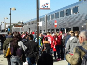 Caltrain crown en route to Arizona game