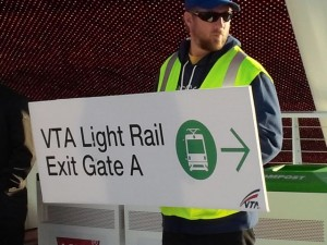 In-stadium signing help to get fans to light rail