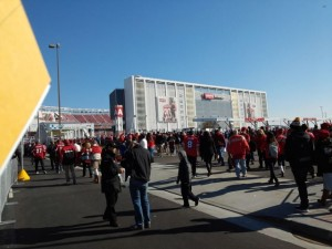 Arriving at Levi's Stadium for last 2014 season game