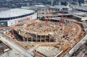 New Atlanta football stadium under construction. Credit all images: New Atlanta Stadium