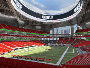 Interior stadium design rendering