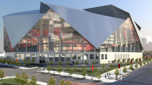 Proposed stadium exterior