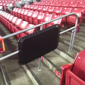 Handrails with Wi-Fi antenna enclosures from AmpThink. Credit: Arizona Cardinals.