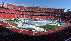Levi's Stadium with ice rink in place