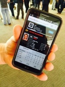 New SAP-powered NHL stats on a mobile device