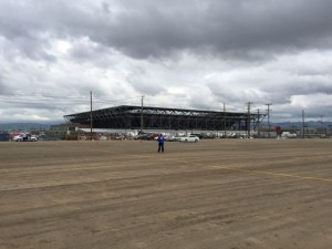 Avaya Stadium, from the employee parking lot