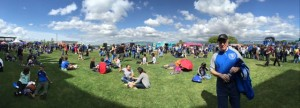 Panoramic view of the picnic lawn. Hey there Quakes fan!