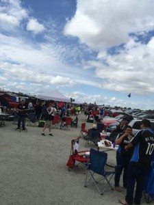 Tailgate action before the game
