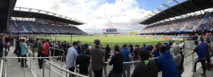 Panoramic view from the cheering section