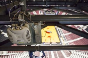 Aruba Wi-FI AP in the rafters at Moda Center